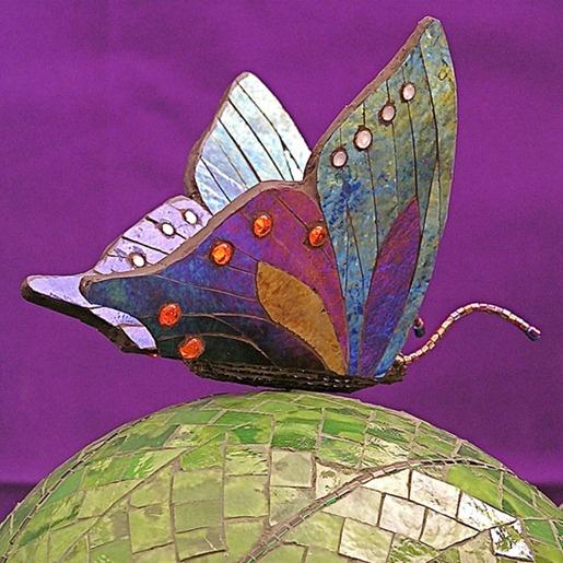 Tiles and Mosaics a nod to butterflies