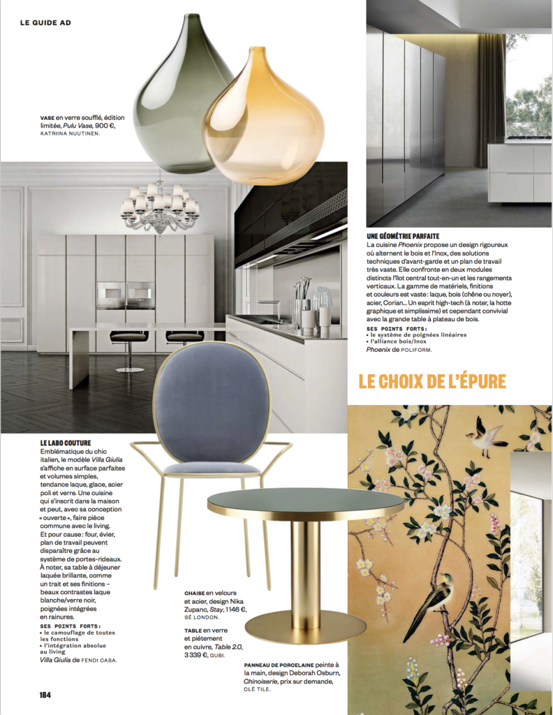 cle Chinoiserie tile in AD Italy