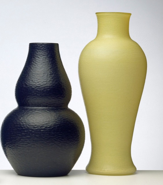 Glass vases with battuto finish Scarpa