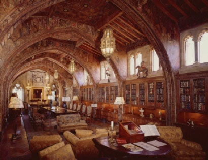 The Gothic Library at Hearst Castle