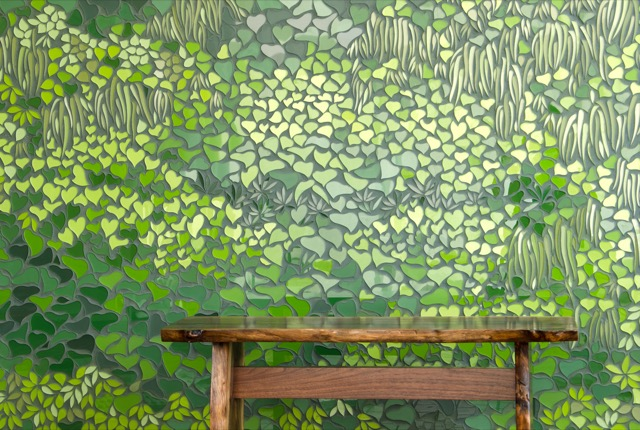 New Ravenna Living Wall glass mosaic in Broad Street collection