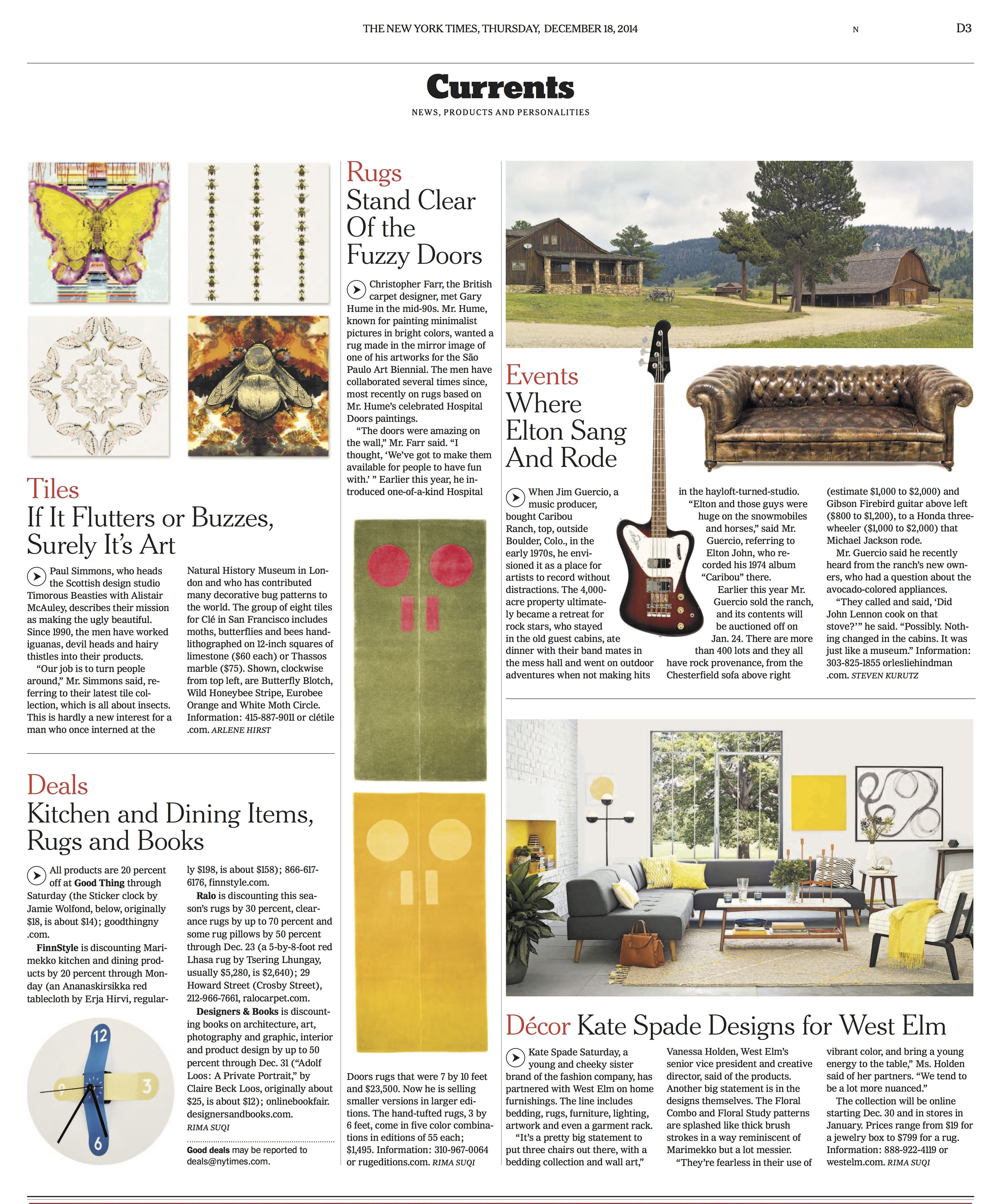 Features on Timorous Beasties in NY Times